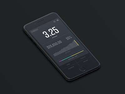 Exodus Crypto Wallet cyrpto wallet design infovis responsive design mobile app