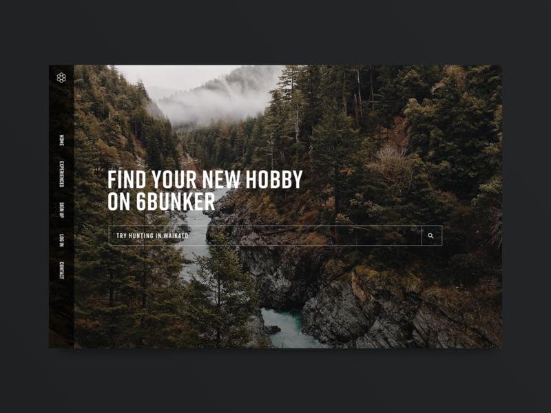 6Bunker Homepage ux user interface typography website logo branding homepage webdesign web ui  ux design ui  ux ui
