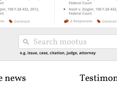 Mootus original homepage