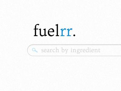 Fuelrr splash page