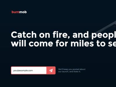 burnmob splash page