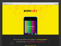 Burnmob landing page sign up landing page burnmob