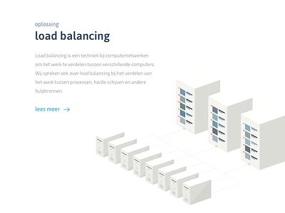 Load balancing - illustration graphic design user interface hosting load balancing webdesign illustration