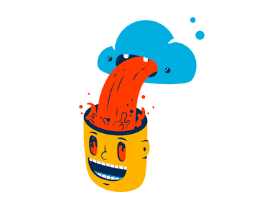 Downloading thierry fousse spill head brain happy vomit cloud downloading download illustration