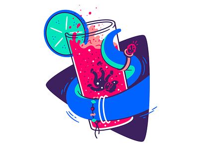 The adventures of Captain Fry #7 dead alien illustration thierry fousse character bracelet lemon liquid drown diamond ring glass beverage drink cocktail tentacle spaceman captain space death