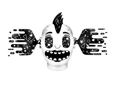 Inktober #27 -  Music punkrock rock cool hear happy piercing woman girl mohawk song listening music punkette punk ink inktober2020 inktober character illustration thierry fousse