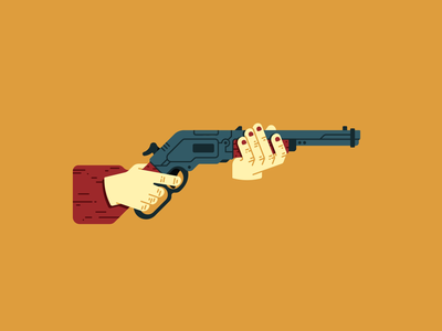 Lever action rifle hands smoke western shoot fire bullet loops reload winchester cowboy lever action rifle lever rifle loop weapon motion design animation illustration thierry fousse