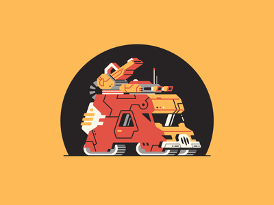 A stands for... vehicle truck font type futuristic 36 days of type affinity designer vector letter a canon weapons transport military army panzer tank armored thierry fousse illustration