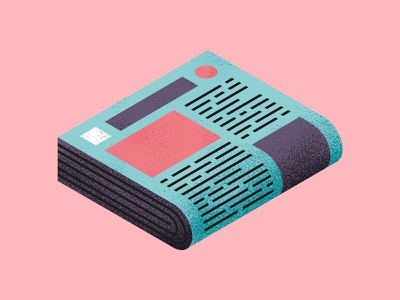 Newspaper illustration print newspaper news texture icon perspective isometric thierry fousse montpellier