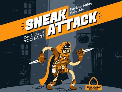 Sneak Attack - Beer Label