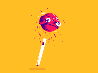 Crazy lollypop thierry fousse illustration jump spin fun crazy sugar sweet candy lollypop