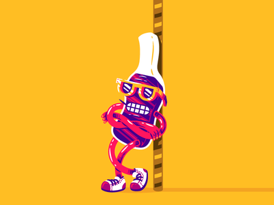 Cola Candy light character candy sweet sugar toothpick douchebag cool chill cola illustration thierry fousse
