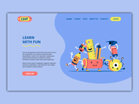 Kids educational website - landing page