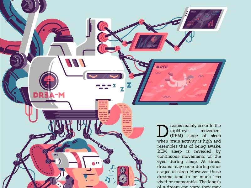 Dream Recording Machine thierry fousse health future magazine science screen cable tech sleep robot machine dream
