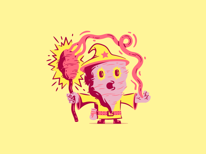 Cotton Candy Wizard thierry fousse candy power magic staff barbapapa sweet sugar character wizard cotton candy
