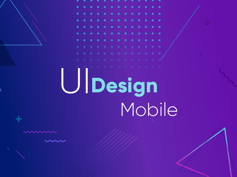 Memphis Ui Mobile background clean minimal gradient design ui memphis