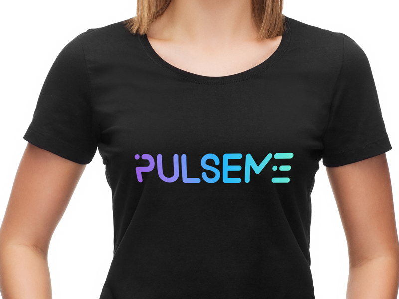 PulseMe product branding brand identity color palette logo logomark typography lettering rainbow type company style guide colorful gradients