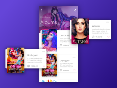 Music Album Play list app ios music player sketch ui ux gradient spotify playlist song album