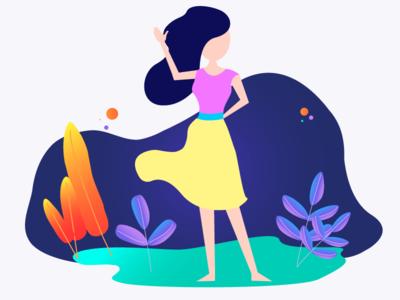 Girl illustration character girl colors ui illustration