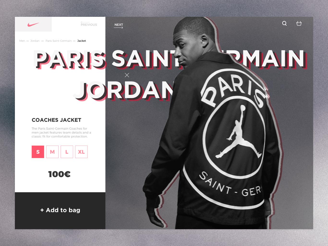 6ab6fb50 Jordan x PSG product page concept kylian mbappé mbappé soccer nike jordan  ux ui webdesign interface