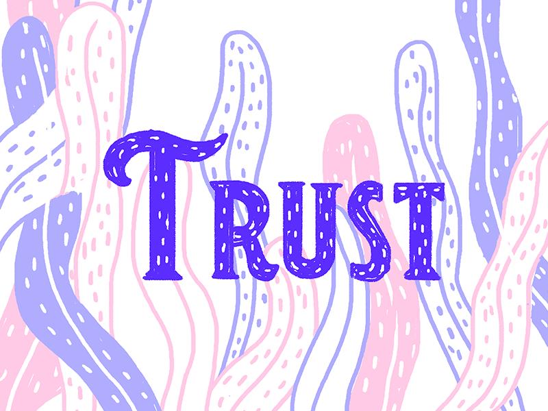 Trust lettering photoshop brush type design illustration