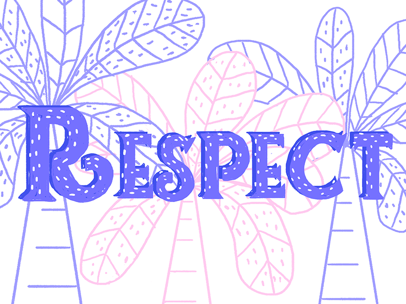 Respect respect typography typo photoshop brush lettering