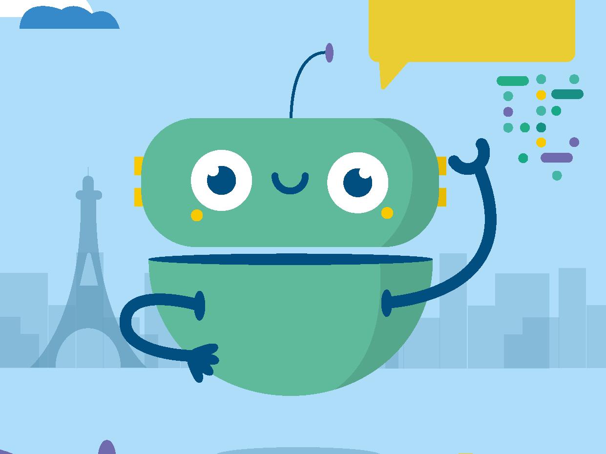 Green Robot cute flat 2d vector illustrator design illustration robot