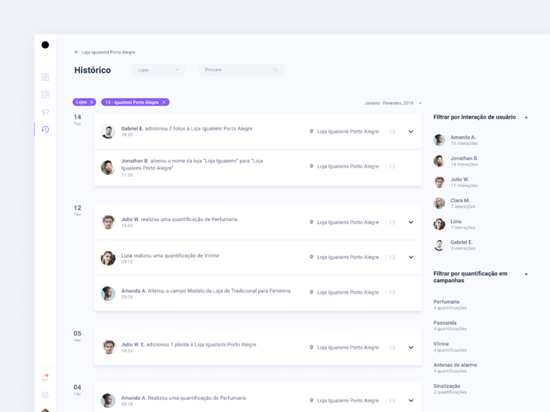 SaaS Dashboard - User Activity History management system filters user activity activity labels figma design system ui system dashboard saas history