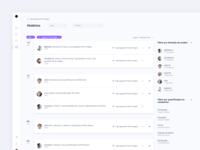 SaaS Dashboard - User Activity History