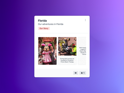Story Card: Slide Previews card cards previews stories socialgood givingback community nonprofit charity