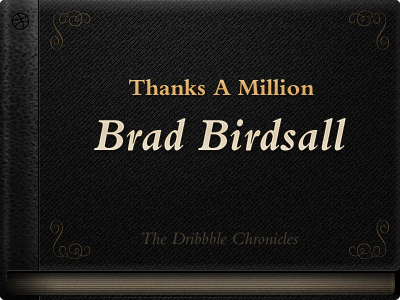 Thanks A Million, Brad Birdsall book first bembo dark