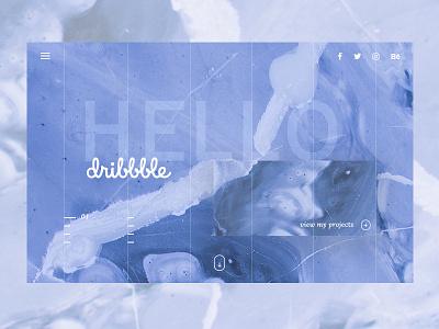 Hello Dribbble! blue webdesign design ux ui hello firstshot