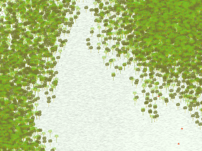 Forest green wipmap illustration cartography tree forest