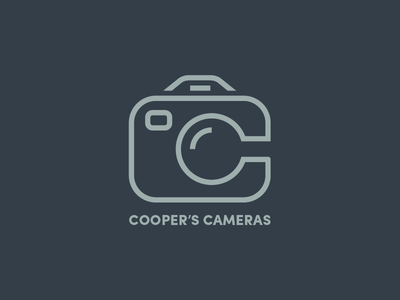 Cooper's Cameras double c photography camera photography logo camera logo c logo cc logo