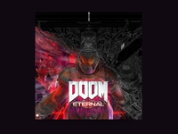 Doom Eternal Cover (the making of) fun covers illustration posterchallenge cover art cover design poster cover doom eternal doom