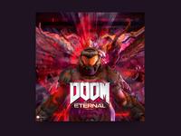 Doom Eternal Cover illustration fun challenge posterchallenge doomsday poster cover design cover art doom eternal doom