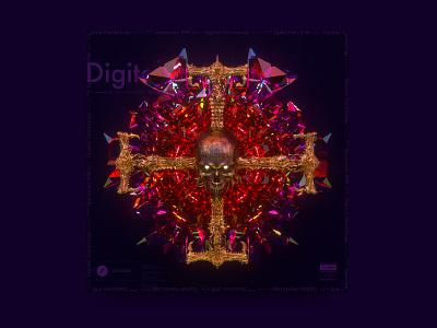 newgen posterjo #29 posterchallenge poster colors modern 3d darkmode dark skull cool octane render octane