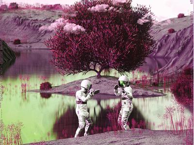 newgen posterjo #35 posterchallenge cool colors planet alien astronaut world 3d render octanerender