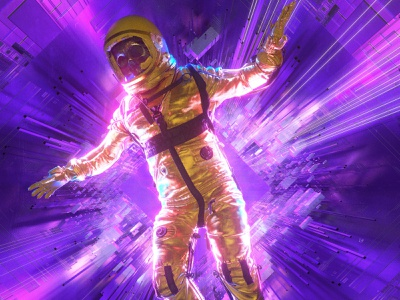 newgen posterjo #37 bifrost space spacex fun posterchallenge poster colors cinema 4d 3d astronaut