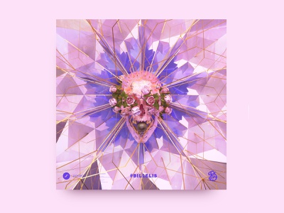 newgen posterjo #40 octane render octane render 3d skulls floreal skull roses flowers colors modern minimal