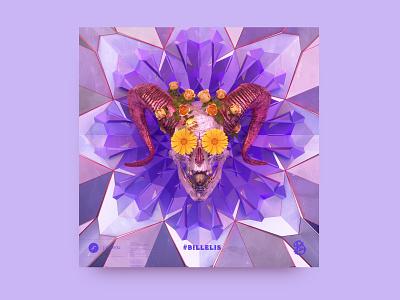 newgen posterjo #41 design cinema4d octane render octanerender octane 3d posterchallenge skull floreal flowers colors minimal