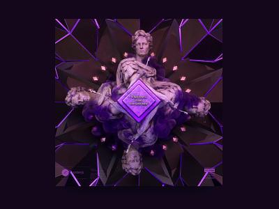 newgen posterjo #43 fun challenge posterchallenge design roman empire octanerender render 3d art 3d statue roman modern minimal