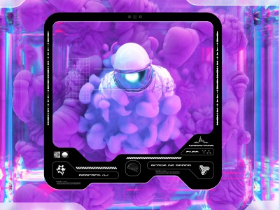 newgen posterjo #45 render 3d art posterchallenge cool color space astro universe astronaut minimal