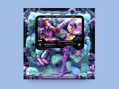 newgen posterjo #47 design cinema4d blender octane render 3dart 3d octanerender posterchallenge poster colors modern minimal