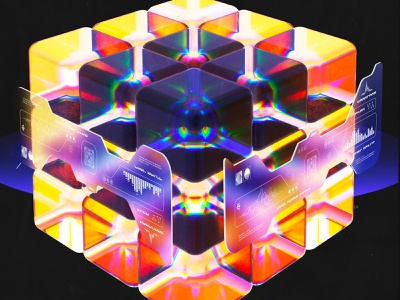 newgen posterjo #49 3d art octane render octanerender modern posterchallenge poster colors 3d cube