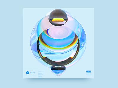 newgen posterjo #51 render 3d blender octane render 3d art sphere colors minimal
