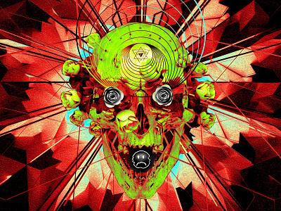 newgen posterjo #54 challenge posterchallenge roses skull collage art collage design poster colors