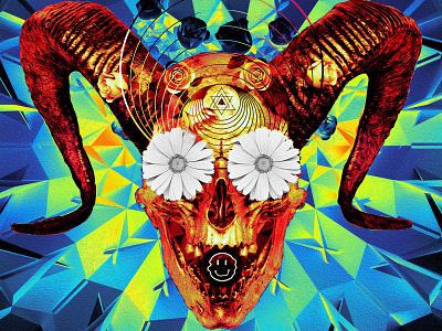 newgen posterjo #55 challenge posterchallenge collage vintage skulls poster colors modern