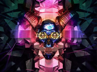 newgen posterjo #58 colors poster posterchallenge octane render octane skull