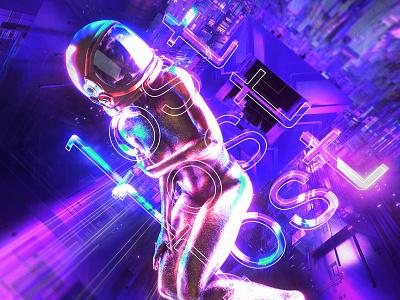 newgen posterjo #59 void spacex astronaut space colors modern minimal